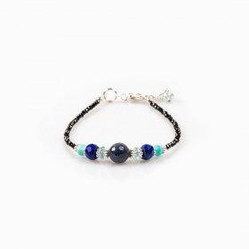 Bracelet saphir, lapis-lazuli, aigue-marine, amazonite