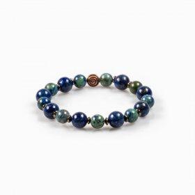 Bracelet élastique lapis-lazuli et azurite-malachite