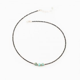 Collier spinelle et turquoise