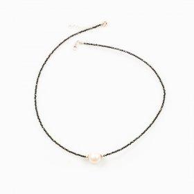 Collier spinelle et perle