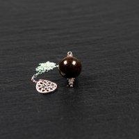 Pendule en bronzite et argent