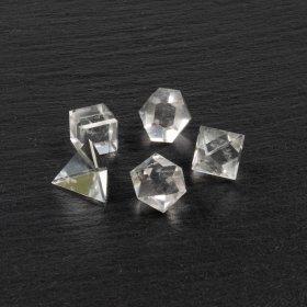 Solides de Platon en cristal de roche