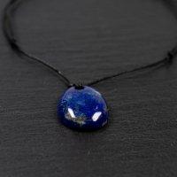 Collier homme cuir et lapis-lazuli