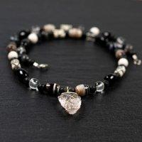 Collier homme mixte pendentif cristal de roche